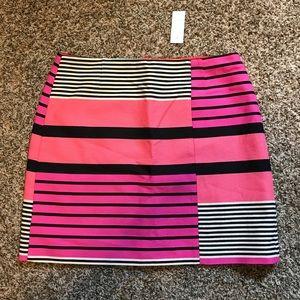 NWT The LOFT Striped Skirt
